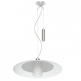 EGLO 95462 | Cabral Eglo visiace svietidlo protiváhové, nastaviteľná výška 1x E27 matný nikel, biela