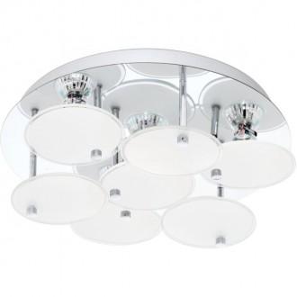 EGLO 95518 | Juranda Eglo stropné svietidlo 4x GU10 960lm 3000K chróm, biela, priesvitná