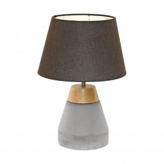 EGLO 95527 | Tarega Eglo stolové svietidlo 37cm prepínač na vedení 1x E27 sivé, hnedá