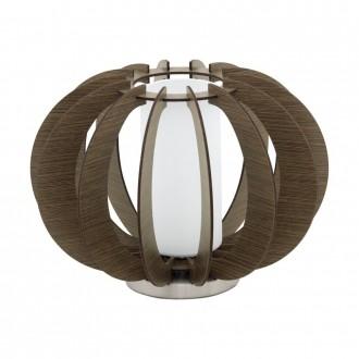 EGLO 95595 | Stellato Eglo stolové svietidlo 21,5cm prepínač na vedení 1x E27 hnedá, biela, matný nikel