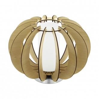EGLO 95603 | Stellato Eglo stolové svietidlo 21,5cm prepínač na vedení 1x E27 javor, biela, matný nikel