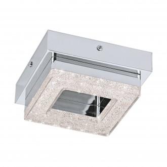 EGLO 95655 | Fradelo Eglo stenové, stropné svietidlo 1x LED 400lm 3000K chróm, priesvitné, krištáľ