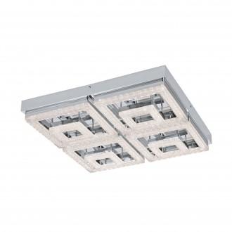 EGLO 95661 | Fradelo Eglo stropné svietidlo 1x LED 5000lm 3000K chróm, priesvitná