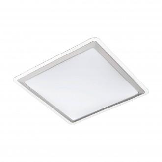 EGLO 95681 | Competa-1 Eglo stenové, stropné svietidlo 1x LED 2500lm 3000K biela, strieborný, priesvitná