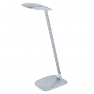 EGLO 95694 | Cajero Eglo stolové svietidlo 50cm dotykový prepínač s reguláciou svetla USB prijímač 1x LED 550lm 4000K strieborný