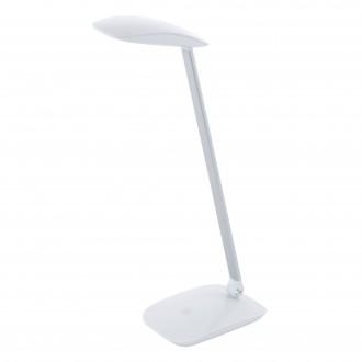 EGLO 95695 | Cajero Eglo stolové svietidlo 50cm dotykový prepínač s reguláciou svetla USB prijímač 1x LED 550lm 4000K biela