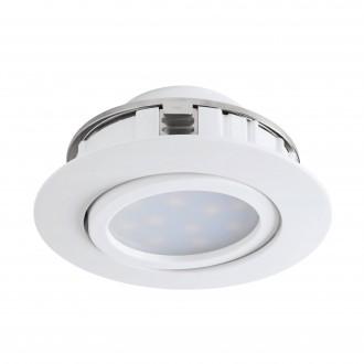 EGLO 95847 | Pineda Eglo zabudovateľné svietidlo sklápacie Ø84mm 1x LED 500lm 3000K biela