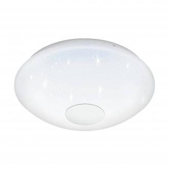 EGLO 95971 | Voltago Eglo stropné svietidlo diaľkový ovládač regulovateľná intenzita svetla, nastaviteľná farebná teplota 1x LED 1500lm 2700 <-> 5000K biela, kryštálový efekt