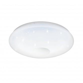 EGLO 95972 | Voltago Eglo stropné svietidlo diaľkový ovládač regulovateľná intenzita svetla, nastaviteľná farebná teplota 1x LED 2500lm 2700 <-> 5000K biela, kryštálový efekt