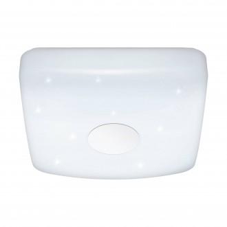 EGLO 95974 | Voltago Eglo stropné svietidlo diaľkový ovládač regulovateľná intenzita svetla, nastaviteľná farebná teplota 1x LED 1800lm 2700 <-> 5000K biela, kryštálový efekt