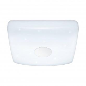 EGLO 95975 | Voltago Eglo stropné svietidlo diaľkový ovládač regulovateľná intenzita svetla, nastaviteľná farebná teplota 1x LED 2200lm 2700 <-> 5000K biela, kryštálový efekt