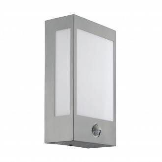 EGLO 95989 | Ralora Eglo stenové svietidlo pohybový senzor, svetelný senzor - súmrakový spínač 1x LED 1000lm 3000K IP44 zušľachtená oceľ, nehrdzavejúca oceľ, biela