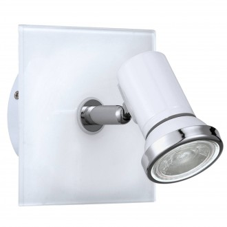 EGLO 95993 | Tamara1-LED Eglo spot svietidlo 1x GU10 240lm 3000K IP44 biela, chróm