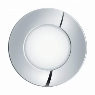 EGLO 96053 | Fueva-1 Eglo zabudovateľné LED panel kruhový Ø85mm 1x LED 300lm 3000K IP44 chróm, biela