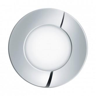 EGLO 96054 | Fueva-1 Eglo zabudovateľné LED panel kruhový Ø85mm 1x LED 360lm 4000K IP44 chróm, biela