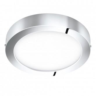EGLO 96058 | Fueva-1 Eglo stenové, stropné LED panel kruhový 1x LED 2200lm 3000K IP44 chróm, biela