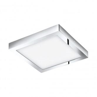 EGLO 96059 | Fueva_1 Eglo stropné LED panel štvorec 1x LED 2600lm 3000K IP44 chróm, biela