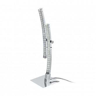 EGLO 96098 | Pertini Eglo stolové svietidlo 33cm prepínač na vedení 2x LED 1000lm 3000K chróm, priesvitné