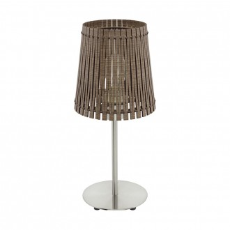 EGLO 96203 | Sendero Eglo stolové svietidlo 41,5cm prepínač na vedení 1x E27 tmavo hnedý, matný nikel