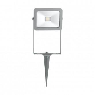 EGLO 96285 | Faedo Eglo svetlomet zapichovacie svietidlo zástrčka - bez spínača otočné prvky 1x LED 900lm 6500K IP44 strieborný, priesvitné