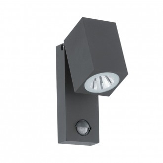 EGLO 96287 | Sakeda Eglo stenové svietidlo pohybový senzor 1x LED 650lm 3000K IP44 antracit