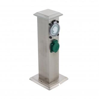 EGLO 96351 | Park_T Eglo konektorový stĺp doplnky časový spínač zásuvkové zospodu IP44 zušľachtená oceľ, nehrdzavejúca oceľ, zelená