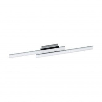 EGLO 96409 | Lapela Eglo stenové, stropné svietidlo 2x LED 2600lm 3000K chróm, saténový