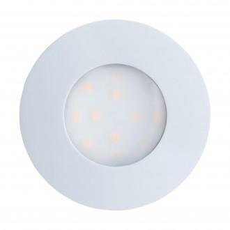EGLO 96414 | Pineda-IP Eglo zabudovateľné svietidlo Ø78mm 1x LED 500lm 3000K IP44 biela, opál