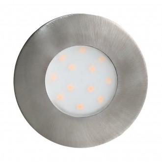 EGLO 96415 | Pineda-IP Eglo zabudovateľné svietidlo Ø78mm 1x LED 500lm 3000K IP44 matný nikel, opál