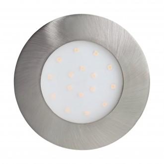 EGLO 96417 | Pineda-IP Eglo zabudovateľné svietidlo Ø102mm 1x LED 1000lm 3000K IP44 matný nikel, opál