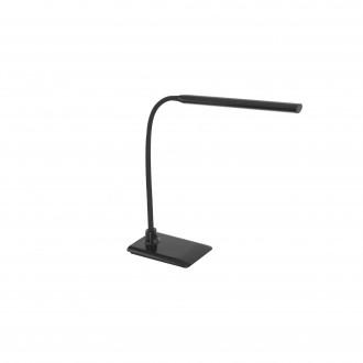 EGLO 96438 | Laroa Eglo stolové svietidlo 32,5cm dotykový prepínač s reguláciou svetla flexibilné, regulovateľná intenzita svetla 1x LED 550lm 4000K čierna