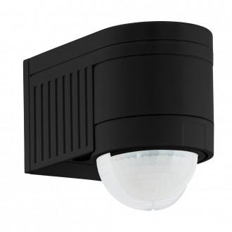 EGLO 96462 | Eglo pohybový senzor PIR 360° svetelný senzor - súmrakový spínač IP44 čierna
