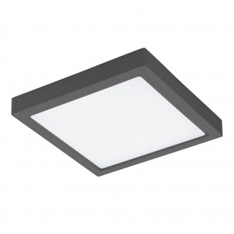 EGLO 96495 | Argolis Eglo stenové, stropné svietidlo 1x LED 2600lm 3000K IP44 antracit, biela