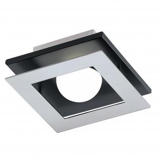 EGLO 96531 | Bellamonte-1 Eglo stenové, stropné svietidlo regulovateľná intenzita svetla 1x LED 510lm 3000K leštený hliník, čierna, biela