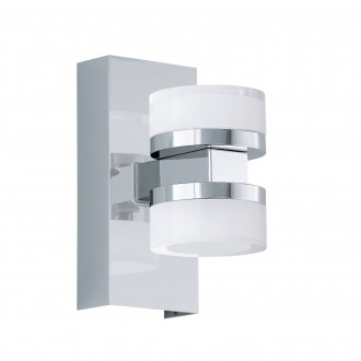 EGLO 96541 | Romendo Eglo rameno stenové svietidlo regulovateľná intenzita svetla 2x LED 1140lm 3000K IP44 chróm, saténový