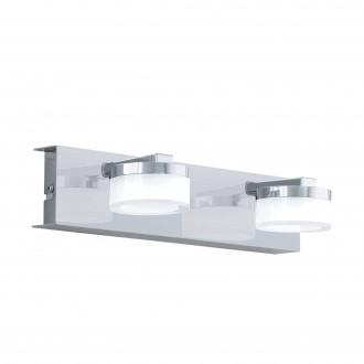EGLO 96542 | Romendo Eglo rameno stenové svietidlo regulovateľná intenzita svetla 2x LED 1140lm 3000K IP44 chróm, saténový