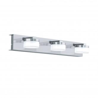 EGLO 96543 | Romendo Eglo rameno stenové svietidlo regulovateľná intenzita svetla 3x LED 1710lm 3000K IP44 chróm, saténový