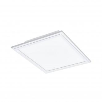 EGLO 96662 | EGLO-Connect-Salobrena Eglo sadrokartónový strop, stropné, visiace múdre osvetlenie štvorec diaľkový ovládač regulovateľná intenzita svetla, nastaviteľná farebná teplota, meniace farbu 1x LED 2000lm 2700 <-> 6500K biela
