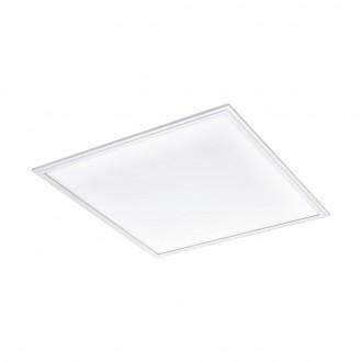 EGLO 96663 | EGLO-Connect-Salobrena Eglo sadrokartónový strop, stropné, visiace múdre osvetlenie štvorec diaľkový ovládač regulovateľná intenzita svetla, nastaviteľná farebná teplota, meniace farbu 1x LED 4300lm 2700 <-> 6500K biela