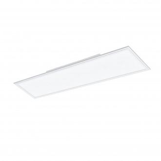 EGLO 96664 | EGLO-Connect-Salobrena Eglo sadrokartónový strop, stropné, visiace múdre osvetlenie obdĺžnik diaľkový ovládač regulovateľná intenzita svetla, nastaviteľná farebná teplota, meniace farbu 1x LED 4300lm 2700 <-> 6500K biela