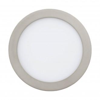 EGLO 96676 | EGLO-Connect-Fueva Eglo zabudovateľné múdre osvetlenie kruhový regulovateľná intenzita svetla, nastaviteľná farebná teplota, meniace farbu Ø225mm 1x LED 2000lm 2700 <-> 6500K matný nikel, biela