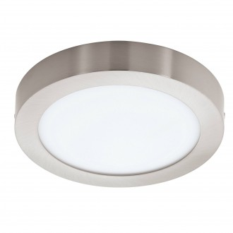 EGLO 96677 | EGLO-Connect-Fueva Eglo stenové, stropné múdre osvetlenie kruhový regulovateľná intenzita svetla, nastaviteľná farebná teplota, meniace farbu 1x LED 2000lm 2700 <-> 6500K matný nikel, biela
