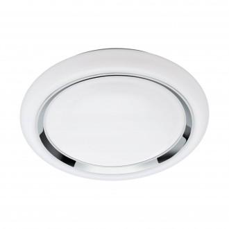 EGLO 96686 | EGLO-Connect-Capasso Eglo stenové, stropné múdre osvetlenie kruhový regulovateľná intenzita svetla, meniace farbu 1x LED 2100lm 2700 <-> 6500K biela, chróm