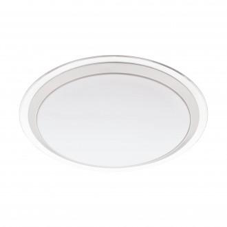 EGLO 96818 | EGLO-Connect-Competa Eglo stenové, stropné múdre osvetlenie kruhový regulovateľná intenzita svetla, meniace farbu 1x LED 2100lm 2700 <-> 6500K biela, strieborný, priesvitná