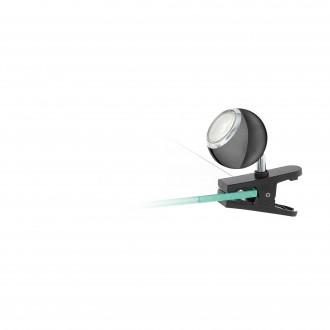 EGLO 96838 | Bimeda Eglo štipcové svietidlo prepínač na vedení otočné prvky 1x GU10 240lm 3000K čierna nikel, chróm
