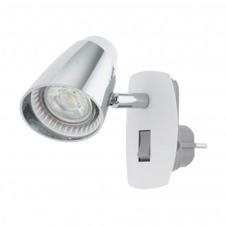EGLO 96846 | Moncalvio Eglo konektorové svietidlo spot prepínač otočné prvky 1x GU10 240lm 3000K biela, chróm