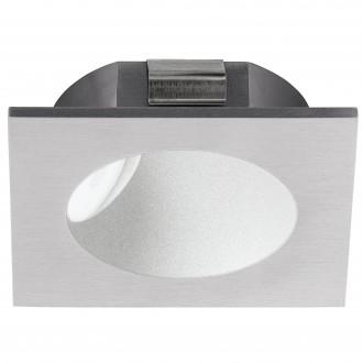 EGLO 96902 | Zarate Eglo zabudovateľné svietidlo 80mm 1x LED 200lm 3000K strieborný, biela