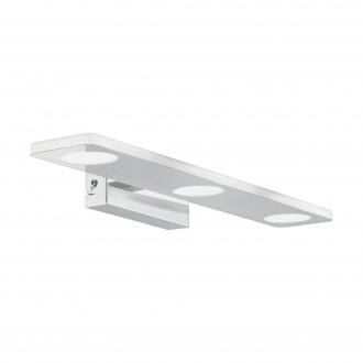 EGLO 96937 | Cabus Eglo rameno stenové svietidlo 3x LED 1260lm 3000K IP44 chróm, biela