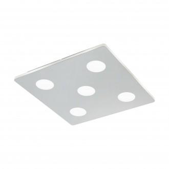 EGLO 96939 | Cabus Eglo stropné svietidlo 5x LED 2100lm 3000K IP44 chróm, biela