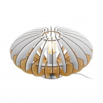 EGLO 96965 | Sotos Eglo stolové svietidlo 19cm prepínač na vedení 1x E27 matný nikel, hnedá, biela